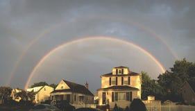 Дом радуги стоковая фотография