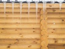 Дом древесины в зиме Стоковая Фотография RF