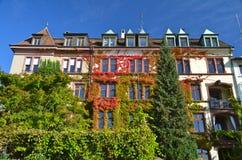 Дом реки Рейн в осени Стоковые Изображения RF