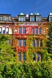 Дом реки Рейн в осени Стоковая Фотография RF