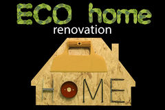 Дом реновации Eco Стоковое Изображение