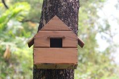 Дом реплики животного белки на дереве в саде Стоковое Изображение
