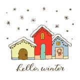 Дом рождества пряника Элемент дизайна для украшения зимы, дизайна, поздравительных открыток и приглашений Изолированный дальше стоковое изображение