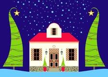 дом рождества Иллюстрация вектора