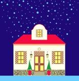 дом рождества Бесплатная Иллюстрация