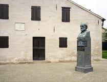 Дом рождения Giuseppe Verdi, деталь мать 2 изображения дочей цвета Стоковая Фотография