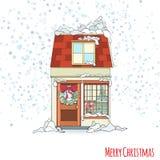 Дом рождества и Нового Года Стоковые Изображения