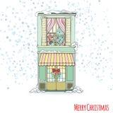 Дом рождества и Нового Года Стоковое фото RF