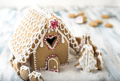 Дом рождества пряника стоковая фотография rf