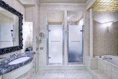 Дом роскоши ванной комнаты дизайна интерьера стильный Стоковые Изображения RF