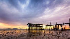 Дом рыбацкого поселка в Малайзии стоковые фото