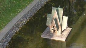 Дом Свана на пруд в городском парке Гомель видеоматериал