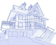 дом светокопии самомоднейшая Стоковое Фото