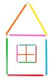 дом сделала карандаши Стоковое Изображение RF