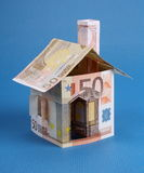 Дом сделанная из дег евро Стоковые Фотографии RF