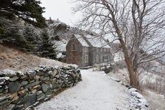 дом сельской местности зимняя Стоковые Фотографии RF