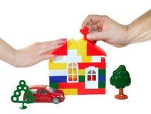 дом семьи строений мечт Стоковое Фото