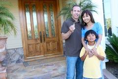 дом семьи счастливый стоковые изображения