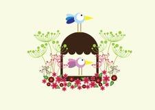 Дом, семья, весна иллюстрация штока