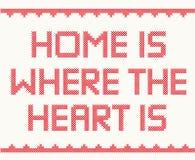 дом сердца где стоковые фотографии rf
