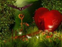 Дом сердца Стоковые Изображения