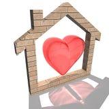 дом сердца Стоковое Изображение