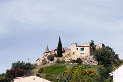 Дом села характера в Провансали стоковые фотографии rf