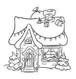 Дом снега рождества иллюстрация штока
