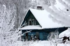 дом снежная Стоковое фото RF