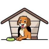 Дом собаки шаржа Стоковое фото RF