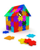 дом соединяет головоломку Стоковая Фотография