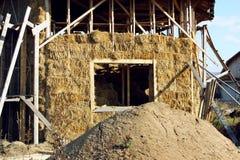 Дом соломы с крышей Стоковое Изображение