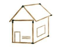 Дом спичек бесплатная иллюстрация