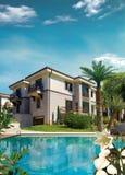 дом среднеземноморская Стоковое Фото
