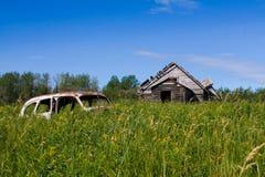 Дом старого автомобиля старая Стоковая Фотография RF