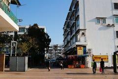 Дом старого стиля на kung Гонконге sai Стоковые Фото