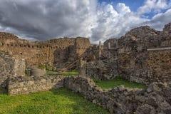 Дом старых римских руин, часть мест всемирного наследия ЮНЕСКО Оно расположено около Неаполь Стоковые Фото