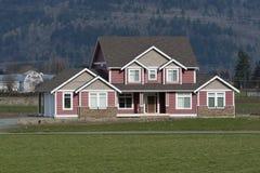 дом страны домашняя новая Стоковое Изображение