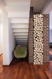 Дом страны - место для древесины Стоковые Изображения