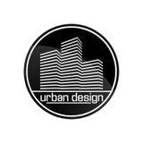 Дом строительной конструкции логотипа логотипа дизайна Стоковое Изображение RF