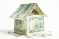Дом 100 счетов доллара Стоковое Изображение RF