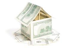 Дом 100 счетов доллара Стоковые Фотографии RF