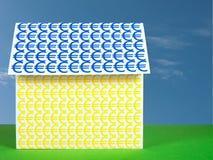 Дом с евро - ипотекой, облечением etc Стоковая Фотография