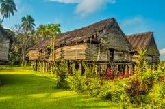 Дом сделанный бамбука Стоковое Фото