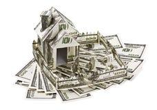 Дом сделанный из денег Стоковые Фото