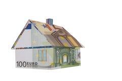 Дом сделанный из денег Стоковые Изображения