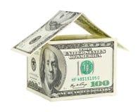 Дом сделанный из денег Стоковое Фото