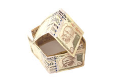Дом сделанный индейца банкноты 500 рупий Стоковые Изображения