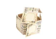 Дом сделанный индейца банкноты 500 рупий Стоковые Изображения RF