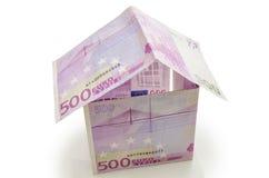 Дом сделанный кредиток Стоковое Изображение